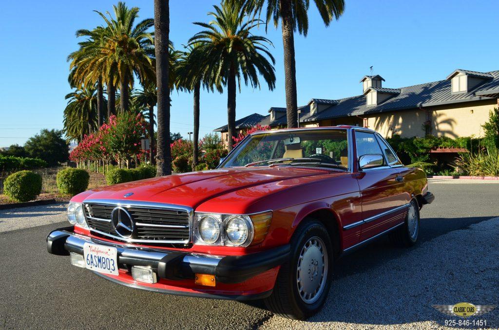 1987 Mercedes 560SL – CLASSIC CARS LTD, Pleasanton California